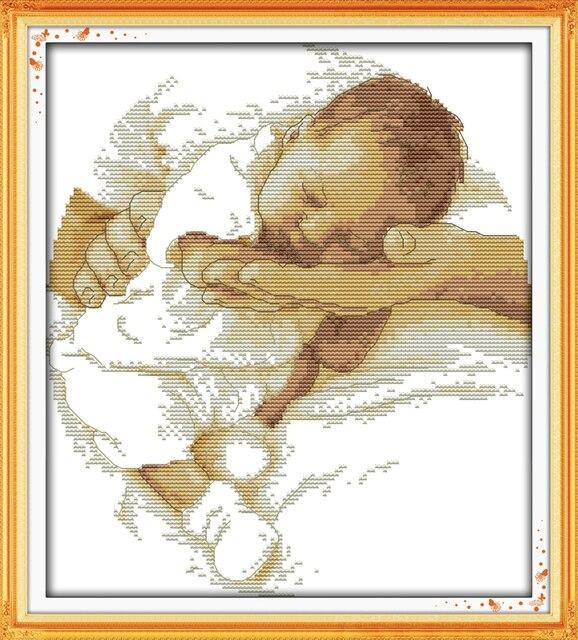 Вышивка крестом мария с младенцем 76