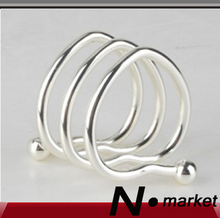Free shipping Factory Direct Sale Love Slingshot Napkin Ring For Weddings Easter Iron Napkin Holder(China)