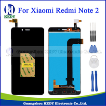Original For Xiaomi Redmi Note 2 LCD Display + Touch Screen Digitizer Assembly Replacement Parts Black Free Adhensive+Glass