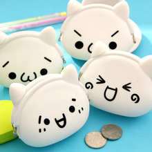 Yan text Jun zero wallet explosion Meng expression silicone coin bag soft surface small hand bag