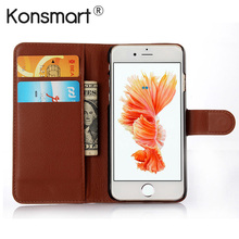 KONSMART Leather Book Style Coque For iphone 6 6S Plus Wallet Style Flip PU Case For iphone 6s iphone6 Fundas Phone Cases Cover(China)
