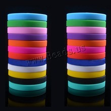 Unisex Trendy Silicone Rubber Flexible Wristband Wrist Band Cuff Bracelet Bangle For Women Men(China)