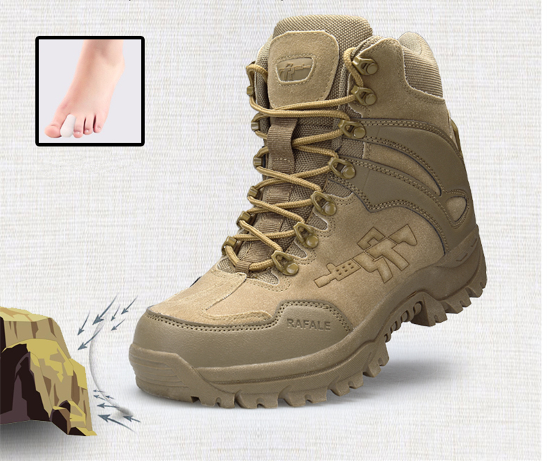 Brand Men's Boots Military boot Chukka Ankle Bot Tactical Big Size Army Male Shoes Safety Combat Mens Motocycle Boots (7)