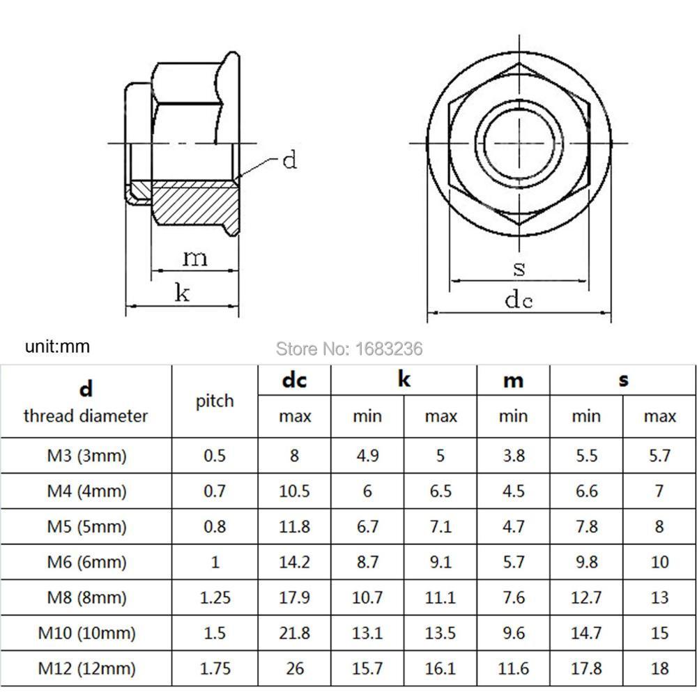 100PC HEXAGON NYLOC LOCKING NUTS M4 M5 M6 M8 M10 M12 HIGH VIBRATION NYLON LOCK