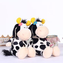 40CM Stuffed Kawaii NICI Milk Cow Plush Toys Cute Girl Cattle Dairy Cows with Flower Children Kids Birthday Gifts 199163759