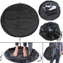 Universal Sand/ Mud Proof Wetsuit Bag & Changing Mat Waterproof Dry Bag Surf Kayak Wetsuit Change Pad Surfing Accessories Black