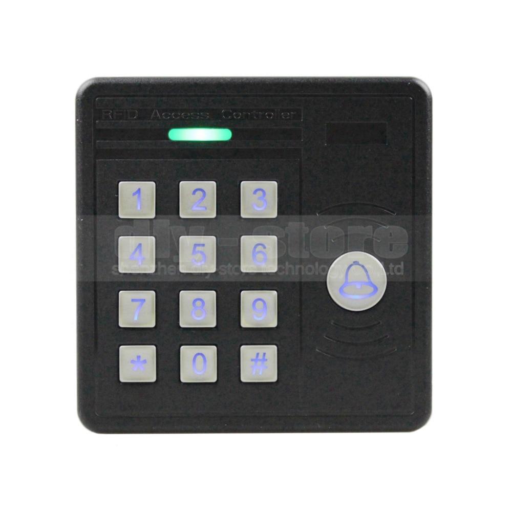 DIYSECUR Waterproof 125KHz RFID ID Card Reader Password Keypad Door Access Control Kit + 10 Free Key Chain KS159<br>
