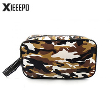 Men Travel Camouflage Wash Bag Zipper Cosmetic Bag Makeup Case Handbag Organizer Storage Pouch Toiletry Make Up Bags(China)
