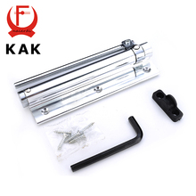 KAK Adjustable 45KG Aluminum Door Closer Light Door Closer Household With Automatic Spring Fire Rated Door Hinges For Hardware
