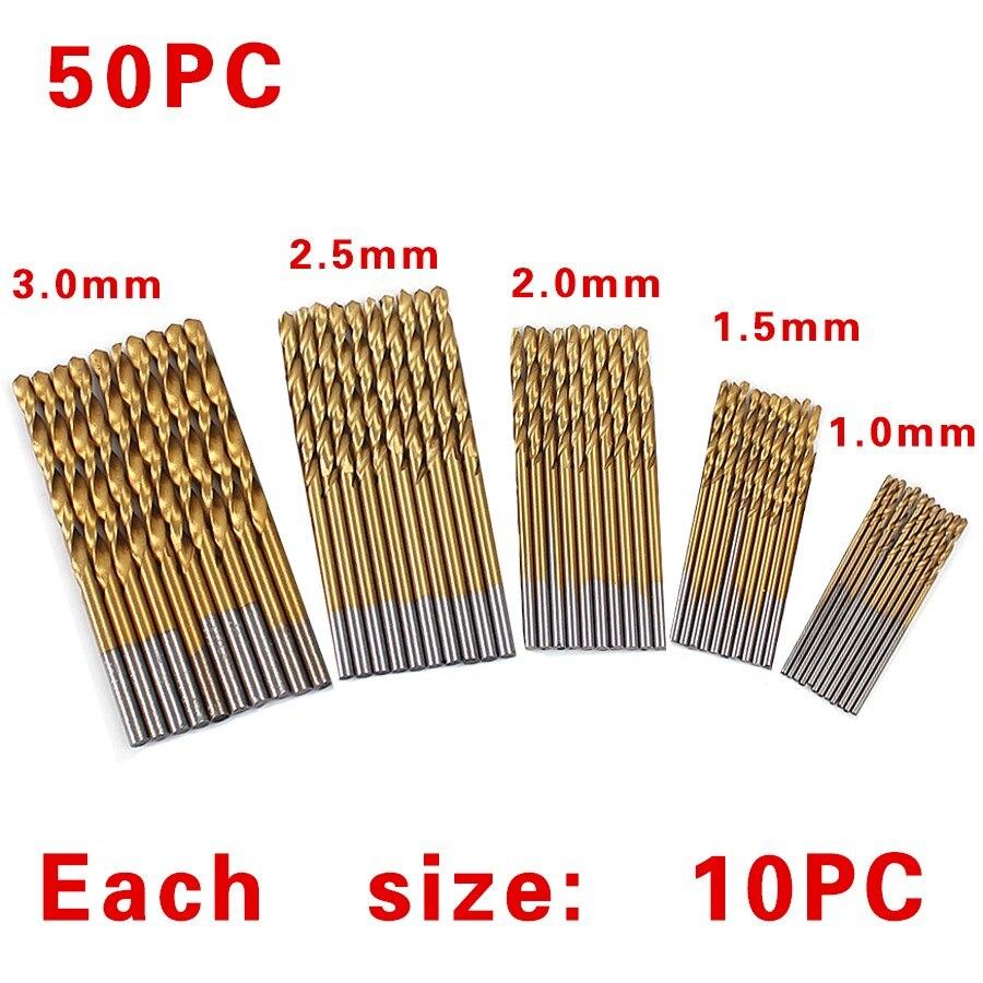 Купить Железный ящик упаковка 99 шт. hss сверл биты 1.5-10 мм titanium покрытием поверхности 118 градусов для сверления металла дешево