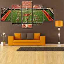 Hot Sale American Football Field Sport Pictures Print on Oil Painting Canvas Fashion Gifts Young Wall Room Decor 5pcs Frameless