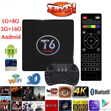 T6 TV Box Amlogic S905X Quad Core TV Box 1/8GB 2/16GB WiFi Smart TV Media Player Miracast X96 Set top Box PK X96 Mini Keyboard