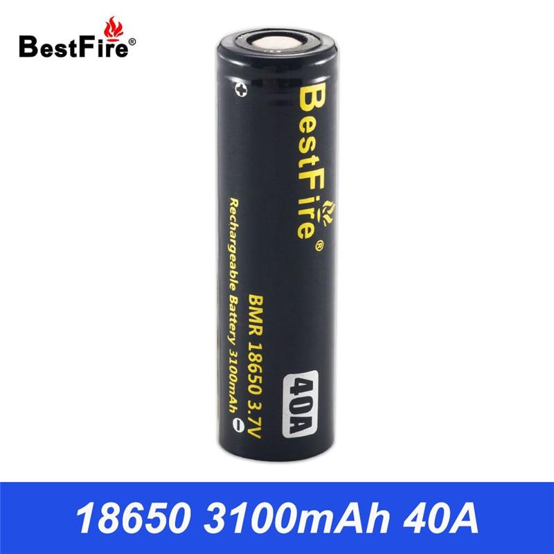 Bestfire Rechargeable Battery 18650 Li-ion Battery E Hookah Box Mod 3100mAh 40A Eleaf iStick Pico 75W VS INR18650 B116