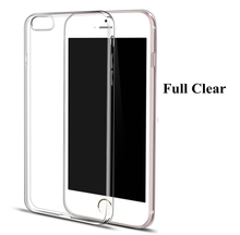 Phone Cover for Apple iPhone 7 6 6S Plus 5 5S SE 5C 4 4S Phone Bag Case Ultrathin Slim Transparent TPU Soft Phone Shell Case