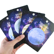 1pcs 30 Sheets Korean Cute Lonely Planet Earth Moon Neptune Sedna Stickers Round Shape Memo Pad Sticky Notes Bookmarks