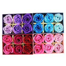 Bathing Soap Artificial Flower Petals Rose Soap Flower Petal With Gift Box For Valentine's Day Mother's Day Wedding Gift Party