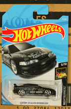 New Arrivals 2017 8a Hot Wheels 1:64 black custom 01 acura integra gsr Car Models Collection Kids Toys Vehicle For Children(China)