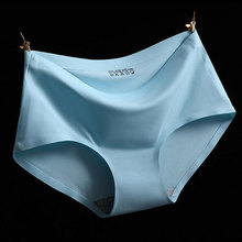 Sexy Summer Style Fashion Women's Panties Ice Silk Cool Refreshing Seamless Underwear Triangle Big Yards Female Briefs H003