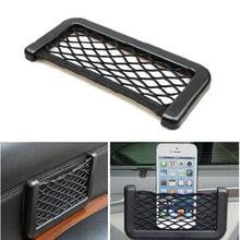 15X8 cm Automotive Bag With Adhesive Pocket Visor Car Container Net Convenient Liquid Cell Phone Bag For Accessories