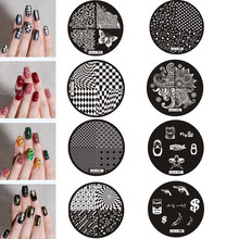 2017 Hot sale Girl Pattern Nail Art Image Stamp Stamping Plates Manicure Template Stencils for nails accessoires carimbo de unha