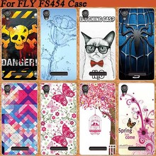 Popular Cover For Fly Nimbus 8 FS454 Colorful Printing Case Flower Tree Cup etc. Stylish Fashion FOR Fly FS 454 case cover Shell