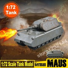Magic Power Scale Model 1:72 Scale Tank Model German Army MAUS Heavy Tank 36606 Finished Colored Tank Model Collection DIY