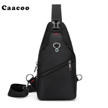 Men Canvas Travel Shoulder Bag Student Crossbody Courier Large Capacity Oxford Waterproof Chest Pack Bag(China)
