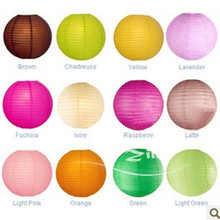 10pcs/lot 6-8-10-12''(30cm)14-16 Chinese paper lantern home and party decoration wedding decoration 20 colors wedding lantern