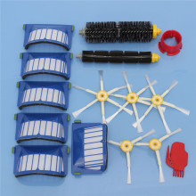 AeroVac Filter,Side Brush,Bristle and Flexible Beater Brush for iRobot Roomba 600 620 625 630 650 660