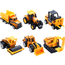 6 Styles Car Toy Diecast Mini Alloy Construction Vehicle Engineering Car Dump-car Dump Truck Model Children Classic Toys
