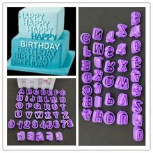 40pcs/bag letter digital cookie bread cake making mold tools Baking Mould Kitchen Cake cooking tools Baking Biscuit mold