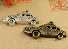 18*32MM Antique Bronze traffic taxi charms for jewelry making, Car accessories manufacturers wholesale 2015 charms, alloy beads(China)