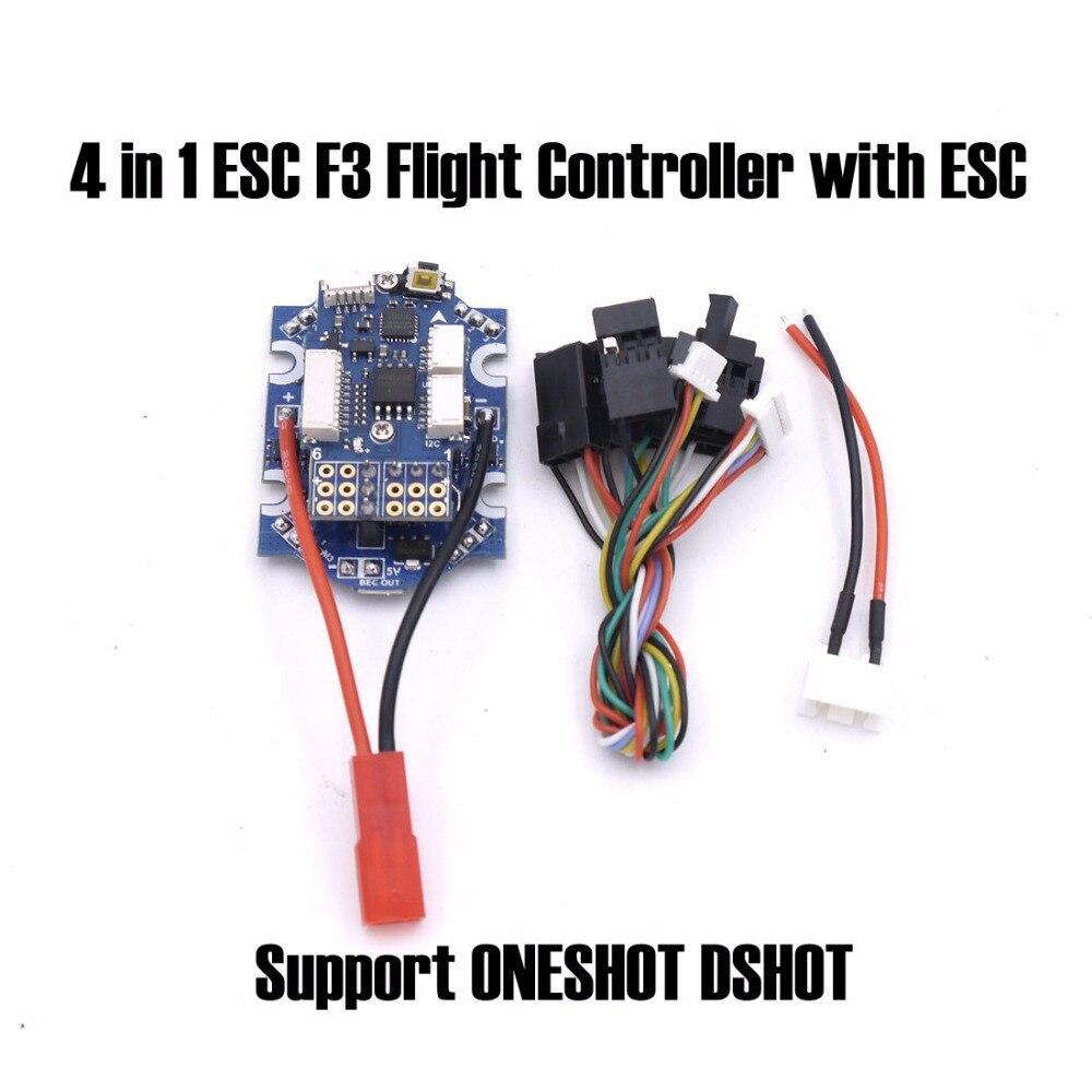 4 in 1 ESC F3 Flight Controller with ESC Speed Controller Support ONESHOT DSHOT for 90GT Super Mini FPV Drone quadruple<br>