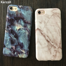 Kerzzil Soft TPU Dimensional Case For iPhone 7 6s 7 Plus 5 SE 5s Granite Marble Triangle Phone Cover Back For iPhone 6 6s Plus