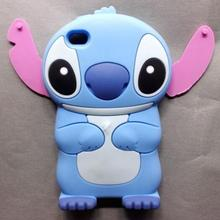 New Fashion Cute Cartoon Lilo Stitch Back Case for Apple iPhone 4 4S Soft 3D Silicon Case iPhone 4S Cover Case Coque Fundas Capa