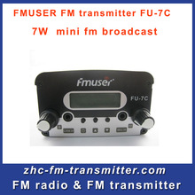 FREE SHIPPING 2*PCS FU-7C 7w broadcast transmitter FM radio with fm broadcast transmitter