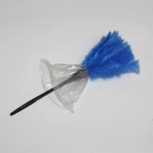 Anti Static Natural Fall blue Turkey feathers Duster Brush Plastic handle Household Cleaning Car Fan Furniture Dust Cleaner