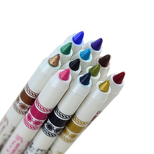 2016 New 12Pcs Waterproof Glitter Lip Liner Eye Shadow  Pencil Pen Makeup Set 08WG