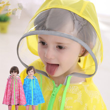 Print deer PVC Kids Raincoat Capa De Chuva For Boys Girls Rain Ponchos Cloak Tour Chubasquero(China)