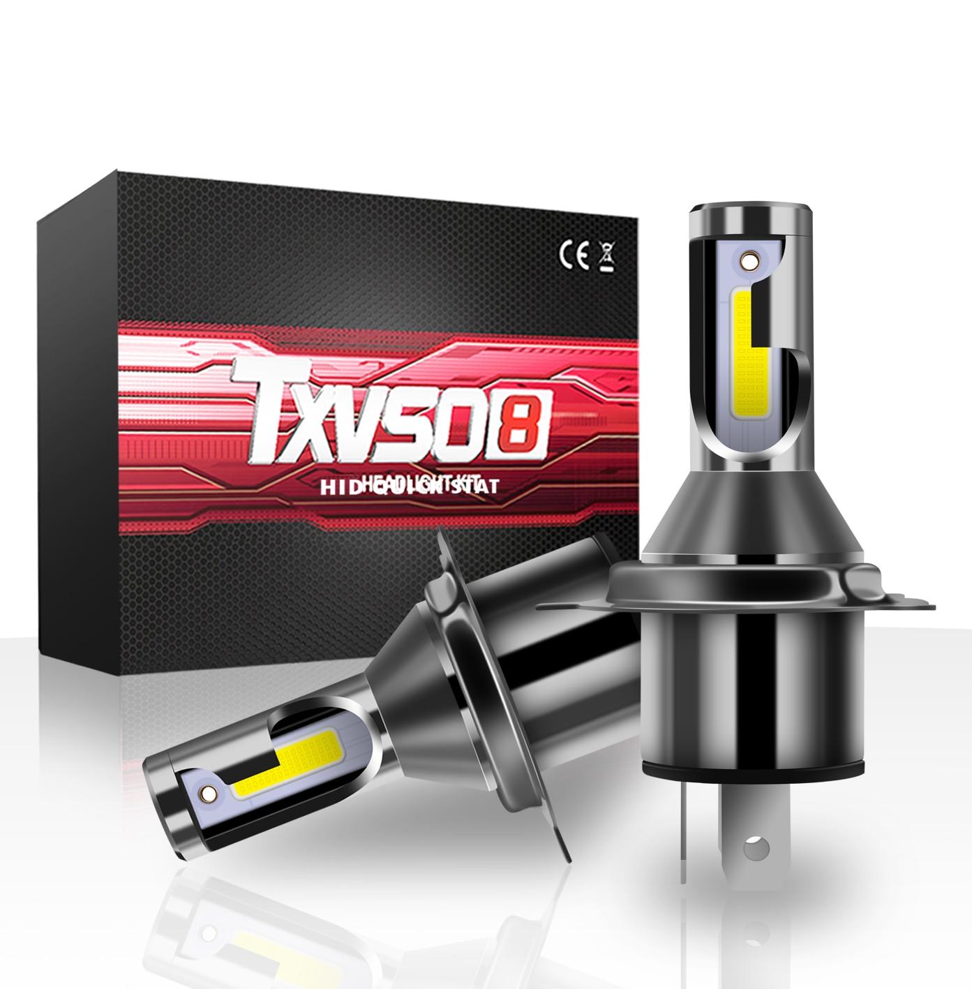 2X COB LED Headlight Conversion Bulb Kit H7 110W 28000LM White High Power 6000K