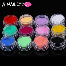 12 Colors Acrylic Powder Dust UV Gel Design 3D Tips Decoration Manicure Nail Art(China)