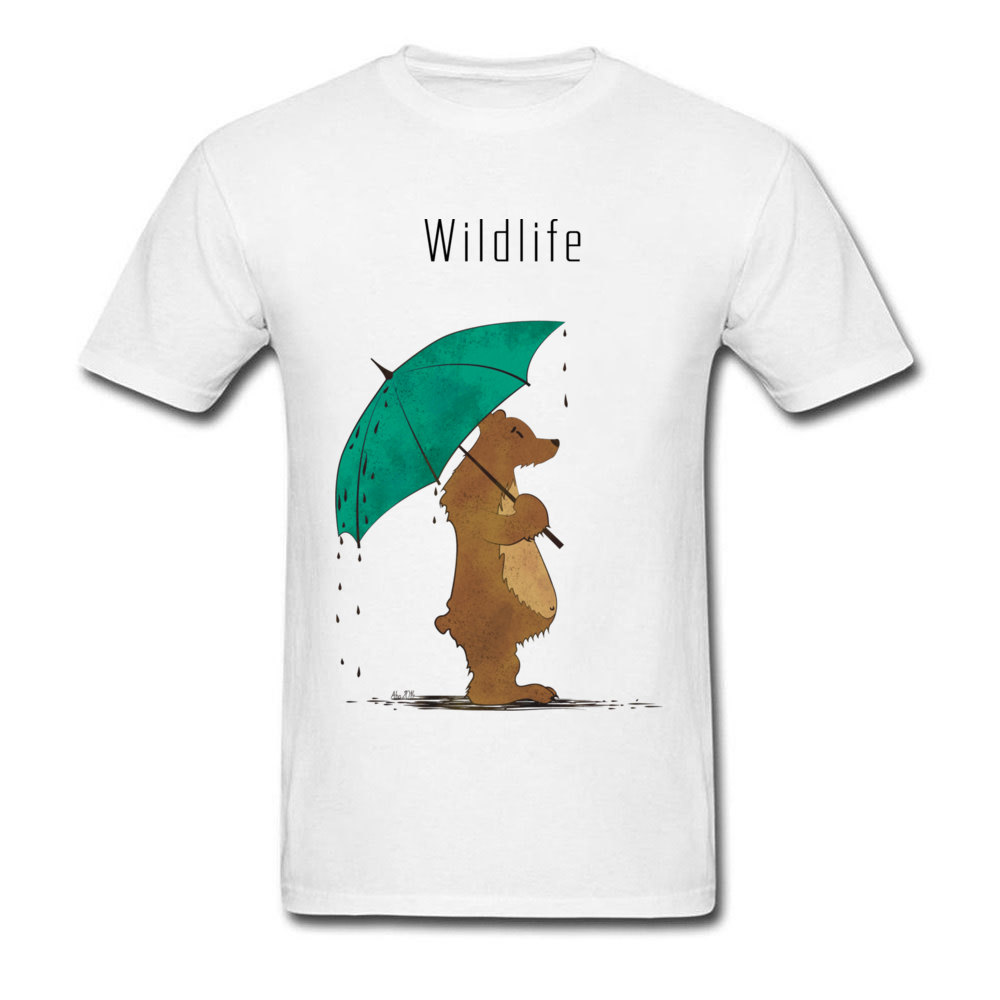 Wildlife Tees Wholesale Round Neck Summer Short Sleeve All Cotton Men's Top T-shirts Normal T Shirts Drop Shipping Wildlife white