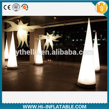 Hot led changeable led lighted inflatable pillar for wedding club holiday decoration