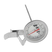 Stainless Steel Coffee Milk Thermometer Espresso Frothing Temperature Meter Kitchen Cafe Craft Tool(China)
