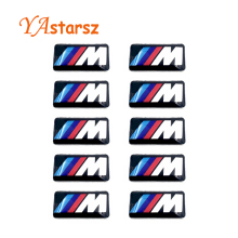 10X Tec Sport Wheel Badge 3D Emblem Sticker Decals Logo For bmw M Series M1 M3 M5 M6 E46 E52 E53 E60 E90 E91 E92 E93 X1 X3 X5 X6