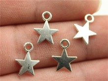 WYSIWYG 40pcs 11*8mm 3 Colors Antique Silver, Antique Gold, Antique Bronze Tiny Star Charms