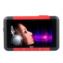 "Mayitr 1pc 8GB Red Music Video Player 4.3"" LCDSlim MP5 MP4 Music Video Movie Media Player FM Radio 88x 55x 10mm"