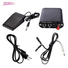 New Tattoo Kit Tattoo Mini Power Supply Foot Pedal Flexible Clip Cords With USA Standard Power Cable