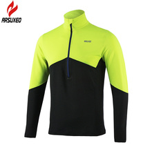 Buy ARSUXEO cycling jersey men 2017 Men's Running bike T Shirts Active Long Sleeves Quick Dry Training Jersey Sports Clothing 16T5 for $17.24 in AliExpress store