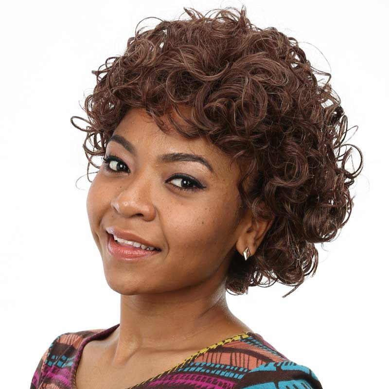 High Quality Synthetic Wigs 6 Inch Curly Short Wigs For Black Women Natural Cheap Hair Wig With Heat Resistant  Free Shipping<br><br>Aliexpress